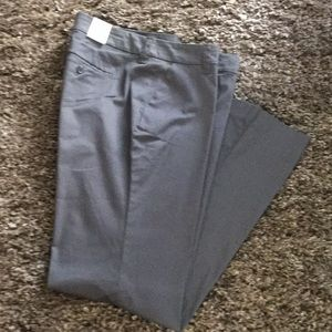 GRAY OLD NAVY TROUSER PANTS - SIZE 10 NWT